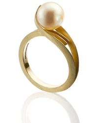 Karen Phillips Gatsby Yellow Gold Pearl Ring - Metallic