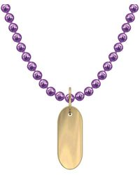 """Allumer Yellow Gold Plated Classic Necklace - """"pill"""" - Metallic"""
