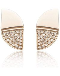 Xavier Civera - Rose Gold Glamorous Diamond Earrings - Lyst
