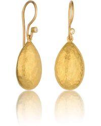 "Lika Behar Collection - Gold ""amanda"" Almond Drop Earrings - Lyst"
