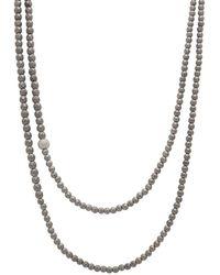 Faystone Saturn Necklace - Metallic