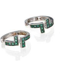 Polina Sapouna Ellis - Antithesis Earrings On Emeralds - Lyst