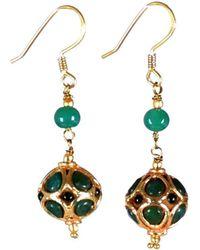 M's Gems by Mamta Valrani - Panache Hook Earrings With Green Jade - Lyst