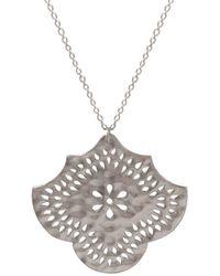 Murkani Jewellery - Sterling Silver Flower Pendant Necklace   - Lyst