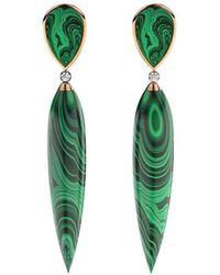 MARCELLO RICCIO - Rose Gold, Diamond & Malachite Earrings - Lyst