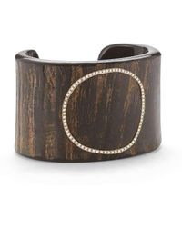 Sandy Leong - Halo Water Buffalo Horn Cuff With Diamond Pave Hoop - Lyst