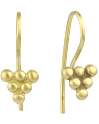 Prism Design - 9kt Gold Small Bead Sulis Earrings - Lyst