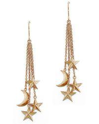 London Road Jewellery - Portobello Rose Gold Starry Night Drop Earrings - Lyst