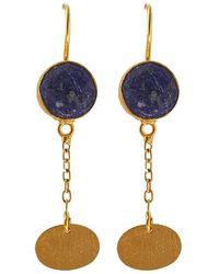 Isla - Lapis Lazuli Plate Earring - Lyst