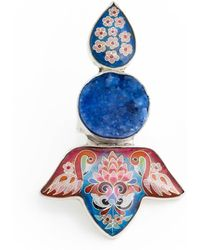 Kimili - Sterling Silver Druzy Flamingos Ring With Cloisonné Enamel - Lyst