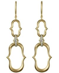 35e1e1bdfda Anahita Jewelry - 18kt Yellow Gold Double Anah Motif Earrings - Lyst