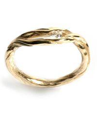 Ed Wilson Jewellery - 9kt Yellow Gold Driftwood Ring - Lyst