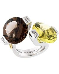 Franco Piane Designed By Franco Pianegonda Glitter Drops Ring - Metallic