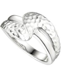 Amore Argento - Rhodium Plated Sterling Silver Lovers Path Ring - Lyst