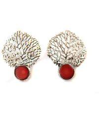 Toosis - Coral Reefs Silver Earrings - Lyst