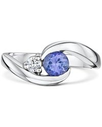 "Becky Rowe Palladium & Tanzanite ""you Complete Me"" Engagement Ring 