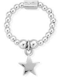 ChloBo Sterling Silver Mini Star Ring - Metallic