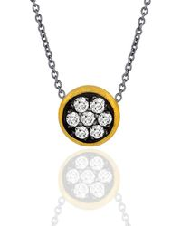 "Lika Behar Collection - Gold And Oxidised Silver ""krissy"" Necklace - Lyst"