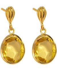 Juvi Designs - Baja Gold Vermeil Earring With Citrine - Lyst