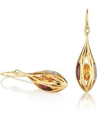 MANJA Jewellery - Riana Gold Earrings - Lyst