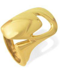 Zolia Jewellery Shell Ring I In Gold - Metallic