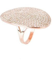 LÁTELITA London - St Tropez Ring Rose Gold White Zircon - Lyst