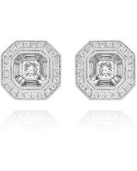 Ortaea Fine Jewellery 18kt White Gold Bridal Diamond Stud Earrings