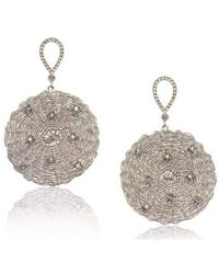 Biiju Vintage Snowflake Earrings - Multicolor