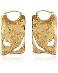 Carou 18kt Yellow Gold Vermeil Sanctuary Of The Mountain Earrings - Metallic