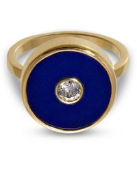 Liz Phillips Europa Diamond And Lapis Lazuli Ring - Blue