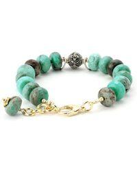 Elisa Ilana Jewelry - Yellow Gold & Green Jasper Lollies Bracelet | - Lyst