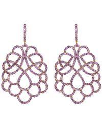 Mara Hotung 18kt Yellow Gold Amethyst Renaissance Earrings - Purple