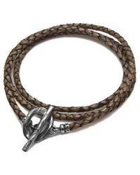 Luke Goldsmith | Tan Brown Leather Braided Wrap Bracelet | Lyst
