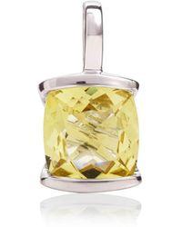 MANJA Jewellery - Infinity Lemon Quartz Pendant - Lyst