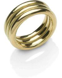 Naomi Tracz Jewellery - 18kt Gold Three Band Ring - Lyst
