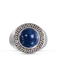 LuvMyJewelry Dark Blue Apatite Stone R - Metallic