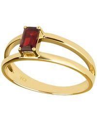 Carolin Stone Jewelry 14kt Yellow Gold Plated Sterling Silver Red Garnet Imaginative Ring - Uk I - Us 4.5 - Eu 48