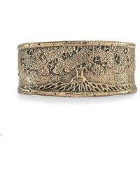 House of Alaia - Tree Of Life Cuff Bracelet In Bronze - Lyst