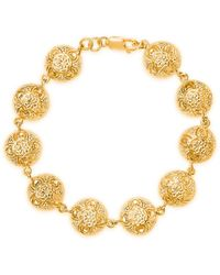 Lily Blanche Yellow Gold Plated Sterling Silver Memory Keeper Bracelet - Metallic