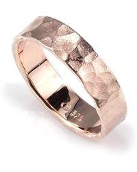 Aimee Sutanto Jewellery - Winter Lake Wide Rose Gold Ring - Lyst