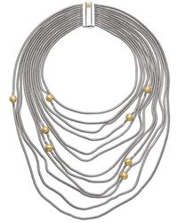 Franco Piane Designed By Franco Pianegonda Waves Yellow Gold Necklace - Metallic