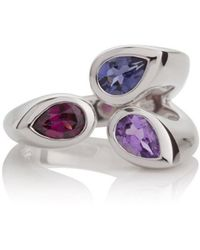MANJA Jewellery - Kazo Rhodolite, Lolite And Amethyst Ring - Lyst