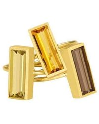 Sandy Leong - Luminous Small Stackable Vertical Ring - Lyst