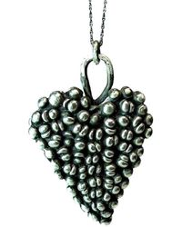 Private Opening - Large Gothic Oxidized Sterling Silver Heart Pendant - Lyst