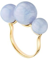 Mimata - Empress - Pink Gold Ring With Chalcedony - Lyst
