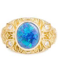 Katherine LeGrand Custom Goldsmith - Gold & Opal A'donna Ring | Katherine Legrand - Lyst