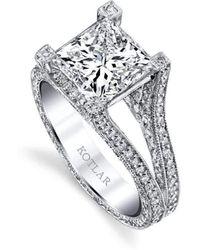 Harry Kotlar Princess Cut Unity Ring - UK M - US 6 - EU 52 3/4 e4y2O