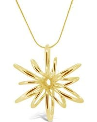 Maree London - Gold Small Lotus Necklace - Lyst