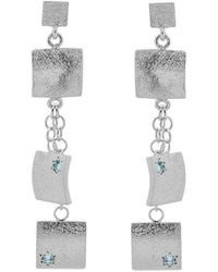 Mishanto London - Veneto Drop Earrings With Blue Topaz - Lyst