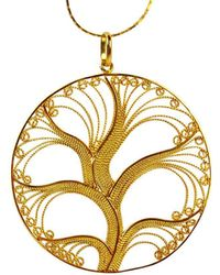 Agora Jewellery - Filigree Gold Tree Of Life Pendant Necklace - Lyst